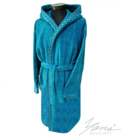 Adult bathrobe Mishel petrol