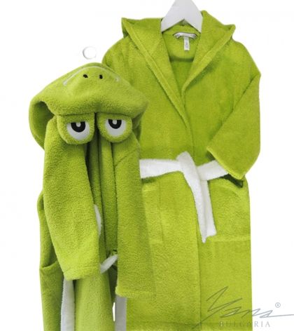 Kids' bathrobe Kermit