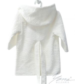 Kids' bathrobe Iva white with embroidery