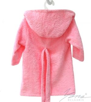 Kids' bathrobe Iva rose with embroidery