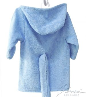 Kids' bathrobe Iva blue with embroidery