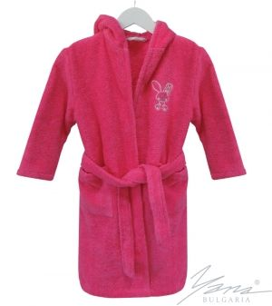 Kids' bathrobe Microcotton with embroidery cyclame
