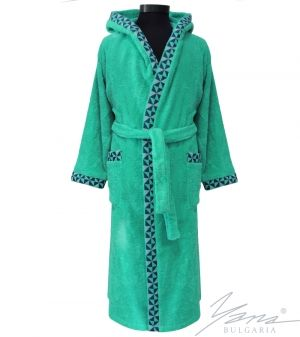 Adult bathrobe G235 green