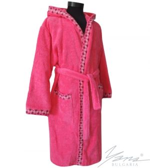 Adult bathrobe G232 cyclame