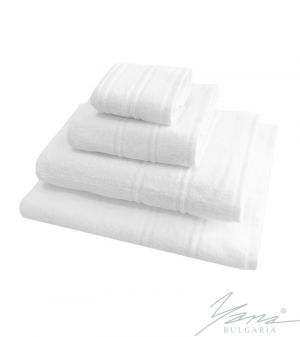 Relief white towel B502
